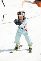 Mädchen im Skilift