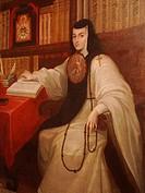 Sor Juana Inés de la Cruz painting, National History Museum, Chapultepec Castle.