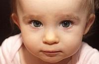 Baby girl with big eyes