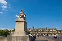 Pont du Carrousel bridge central Paris France Europe