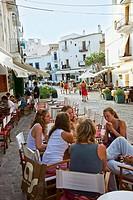 Restaurant. Dalt Vila. Ibiza city. Ibiza. Balearic Islands. Spain.