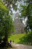 attikal, person, ruins, mayan, guatemala, people