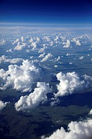 Canada, Prairies, white clouds and sky, aerial view,