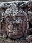 copan, person, head, stone, honduras, people