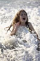 florida, girl, beach, surf, enjoying, young