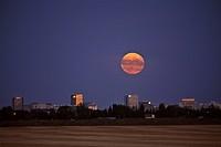 moon, scenic, regina, rising, full