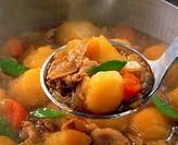 Potatoes Stewed With Pork
