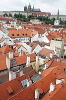 Mala Strana, view over Charles Bridge and old town  Prague  Czech republic