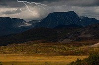Lightning over mountains, Tatshenshini_Alsek Provincial Park, British Columbia, Canada