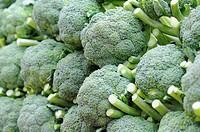 broccoli, Pasar Bawar, Pekanbaru, Sumatra, Indonesia