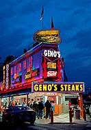 Famous Geno´s Steaks, South Philly, Philadelphia, PA, USA