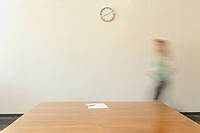 Person walking through conference room, Munich, Bavaria, Germany