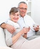 Love _ Romantic older couple sitting together