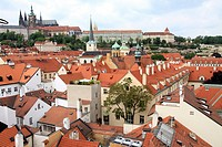 Mala Strana, view over Charles Bridge and old town  Prague  Czech republic