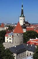 Estonia, Tallinn, skyline, general view,