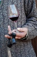 France, Vaucluse, Dentelles de Montmirail, wine ´côtes du Rhône´, village Vacqueyras, AOC, Domaine ´la Monardière´ Christian Vache wine maker.