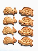Small Biscuits are in shape of animals & birds