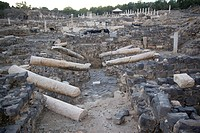 Photograph of the ruins of the Roman city of Beit Shean in the Jordan valley