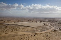 Aerial photograph of the landscape of the flooded Arava