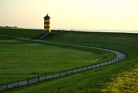 Lighthouse Pilsum, East Frisia, Lower Saxony, Germany