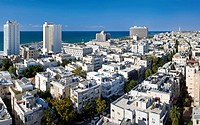 Tel Aviv Cityscape in the sunlight, Israel, Middle East