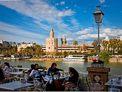 The Torre de L´Oro at the Guadalquivir river, Sevilla City, Spain, Europe