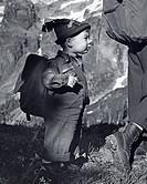 little boy hiker