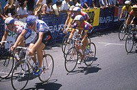 Bicycle race, Beverly Hills, CA