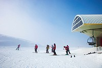 Ski resort of Port Aine. Catalan Pyrenees. Rialp. Pallars Sobira. Lleida-provincia. Catalonia.Spain.