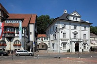 D-Bergisch Gladbach, Bergisches Land, North Rhine-Westphalia, Konrad Adenauer Square, city hall, historicism, brewhouse Am Bock, guesthouse, restauran...