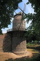 D-Dormagen, Rhine, Lower Rhine, North Rhine-Westphalia, D-Dormagen-Zons, Feste Zons, Mill Tower, historic windmill