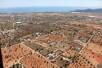 Agriculture area close to Airport Es Codolar, Ibiza, Balearic Islands, Spain
