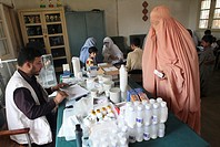 clinic of MSF for victims of floods in pakistan
