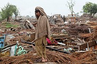 Victims of severe floods in Pakistan 2010