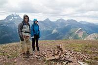 hikers in Waterton National Park, Alberta, Canada