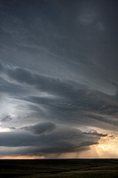 A supercellular thunderstorm in rural Wyoming, May 21, 2010