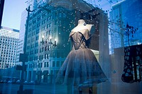 Reflection in a Boutique Window, Business District, Downtown Seattle