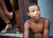 Cuba, Havana Vieja, Portrait of a boy