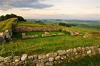 Dawn at the Hadrians Wall, Northumbria, North England