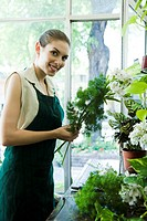 Female florist, portrait