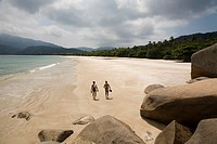 Lopes Mendes Beach  The island Ilha Grande with its 86 beaches is about 100 km from Rio de Janeiro away  Most of the island os covered by the atlantic...