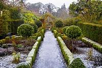 The frozen gardens of Belvedere House, Mullingar, County Westmeath, Ireland in December