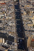 France, Paris, View from Montparnasse Tower