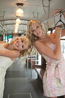 Women on trolley
