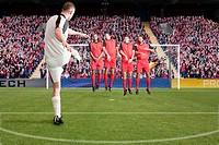 Football taking a free kick