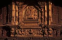 Nepal,Patan, Durbar Square, golden window of Royal Palace ...