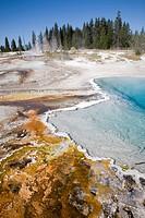 USA, Wyoming, Yellowstone National Park, West Thumb Geyser Basin ...