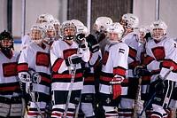 Children ice hockey team
