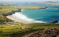 Whitesands Bay and Ramsey Island from Carn Llidi, St David´s Head, Pembrokeshire, Wales