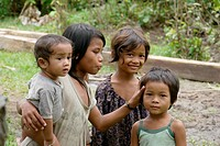 Children of Ban Bung village, Stung Treng district, Cambodia